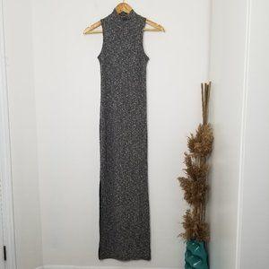 Rue21 Heather Gray Ribbed Knit Maxi Dress XS